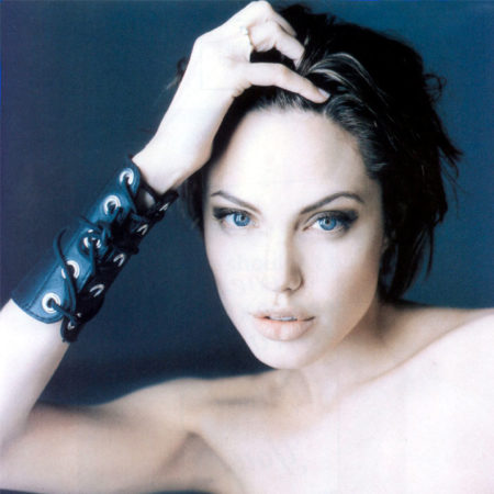 Wide Leather Cuff on Angelina Jolie