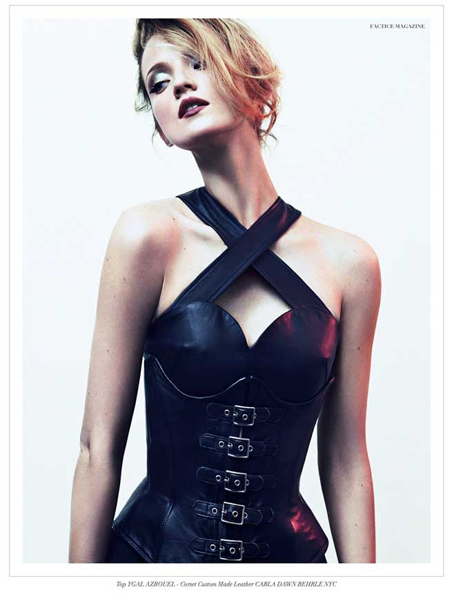 Our 6 Buckle Corset in Factice Magazine