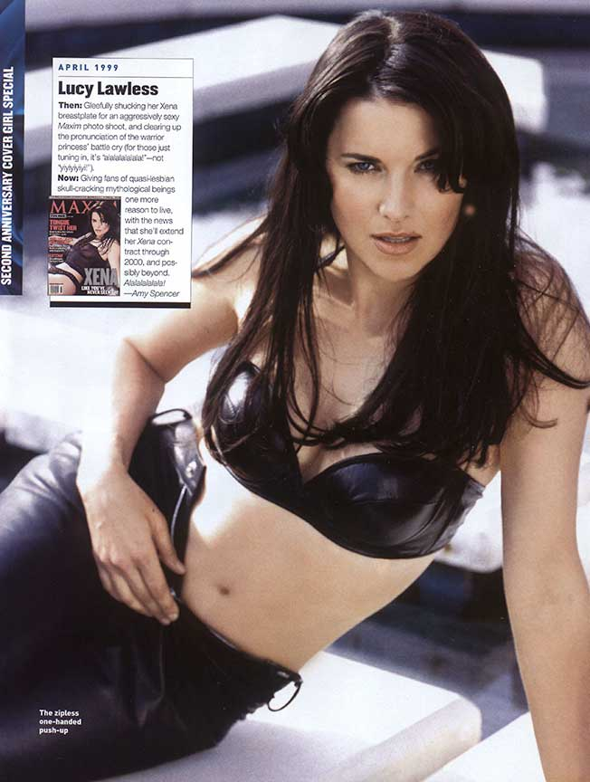 lucy lawless in leather