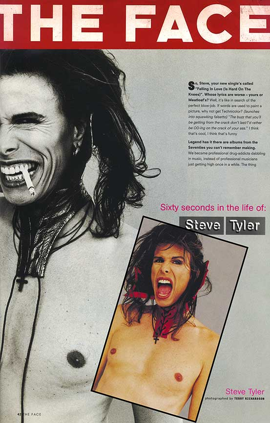 Steven Tyler in Our leather Collar- featured in The Face