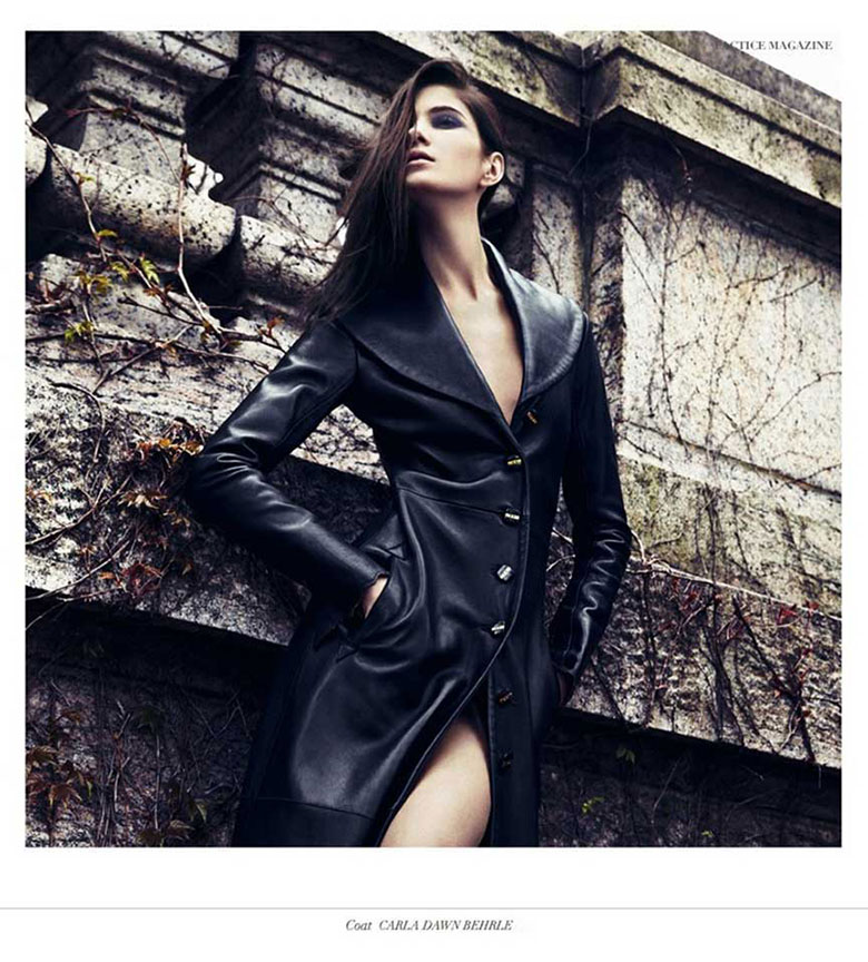 """Our Full Length Leather """"Dark City"""" Coat Featured in Factice Magazine"""