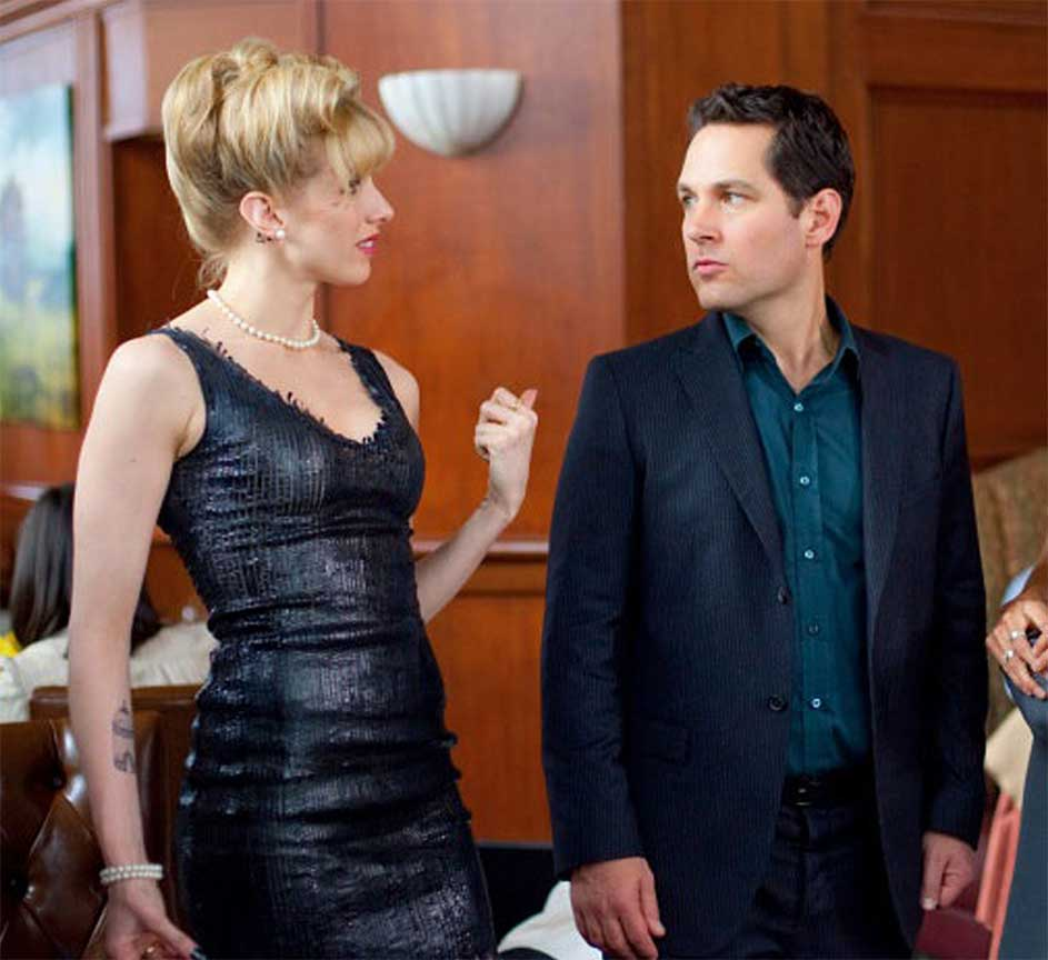 Lucy Punch in our Custom Made Patent leather Trinity Dress