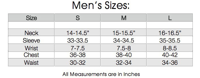 mens regular sizes