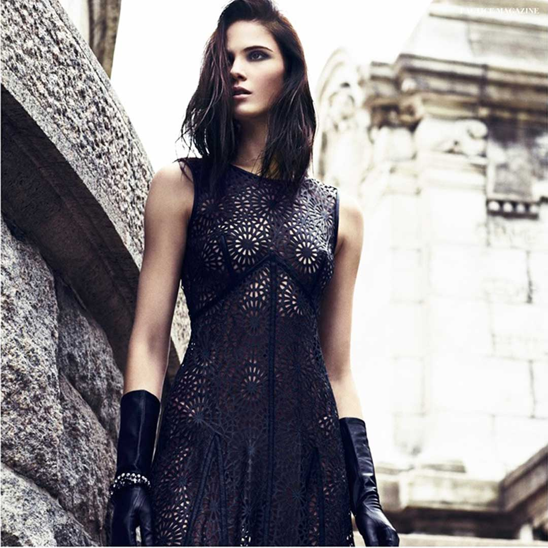laser cut leather dress