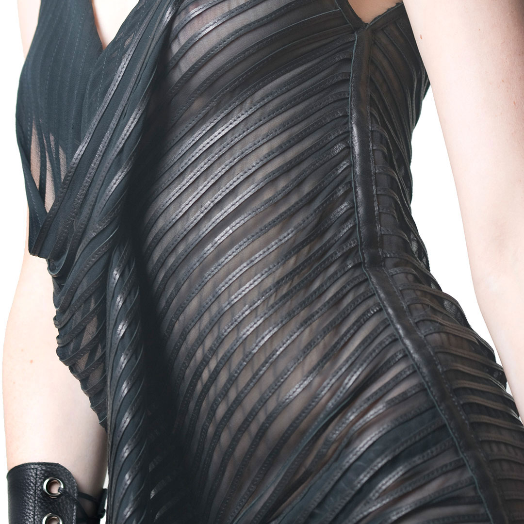 give the gift that always fits - example of a custom made leather dress