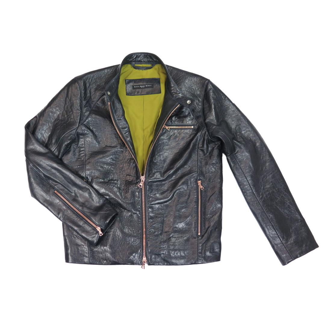 give the gift that always fits - example of a custom made leather jacket