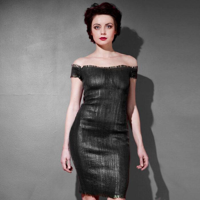 ayesha stretch leather dress