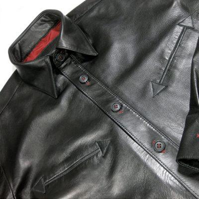 men's leather shirt