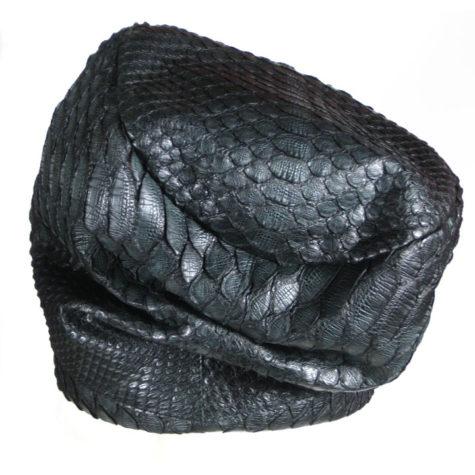 Matte Black Python Turban
