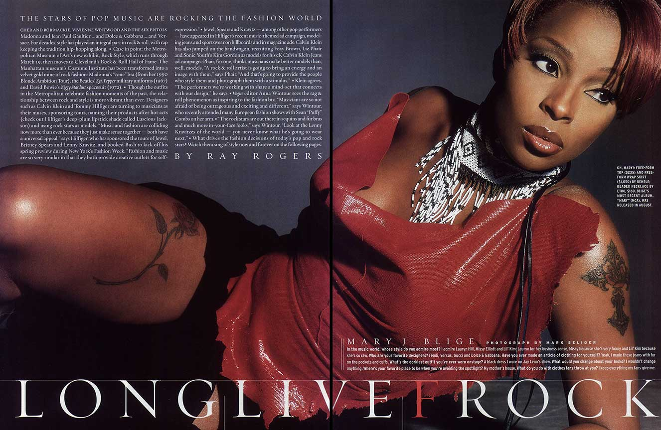 Mary J. Blige in Carla Dawn Behrle leather - US Magazine