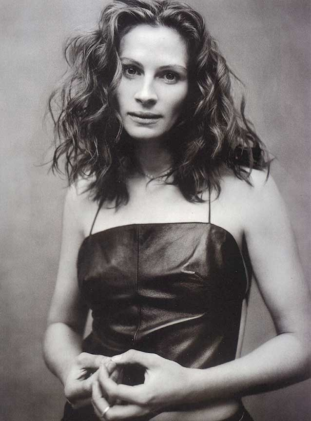 Julia Roberts in our Leather Apron Top | Featured in US Magazine