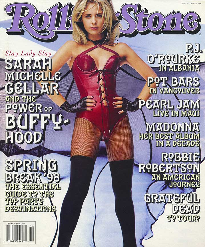 Sara Michelle Gellar in Our Vampirilla Leather Bodysuit and Veined Cape |Created for Rolling Stone Magazine