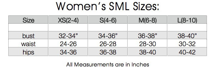 womens sml sizes