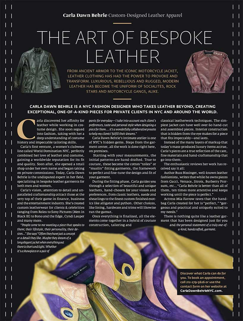 the art of bespoke leather
