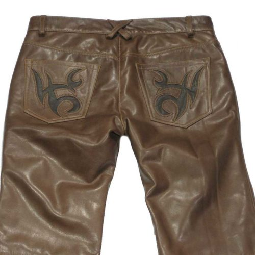 custom made mens leather jeans