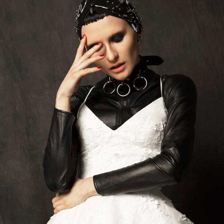 Emma Leather Bodysuit Layered